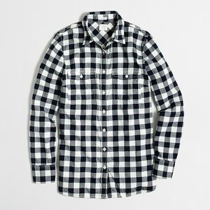 J. Crew Flannel shirt perfect fit in buffalo check